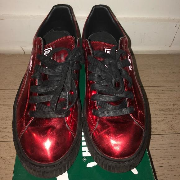 5b76c25c277 Metallic Red Puma Platform sneaker. M 5a5e837184b5ce83f0d3d6d6